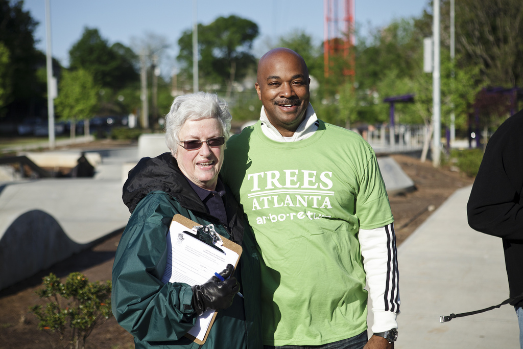 Peggy Denby with City Council Member Kwanza Hall